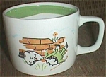 Click here to enlarge image and see more about item cd-1: Humpty Dumpty Fell Off the Wall Child's Cup/Mug Nippon