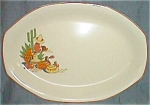 Click to view larger image of Excellent Vintage Mexican Scene Serving Platter (Image1)