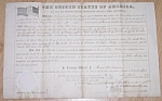 Click here to enlarge image and see more about item clin-4: Original 1860 Minnesota Land Grant Free Shipping