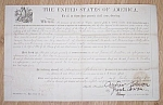 Click here to enlarge image and see more about item clin-5: Original 1868 Minnesota Land Grant Free Shipping