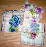 Click here to enlarge image and see more about item dad-24: 3 Vintage Printed Hankies