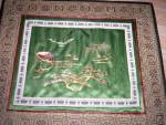 Click to view larger image of Framed Oriental Silk Embroidered Picture (Image2)