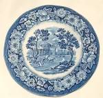 Click here to enlarge image and see more about item db-254: Staffordshire Bread & Butter Plate Liberty Blue