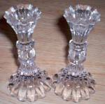 Pair of Lovely Crystal Candle Holders