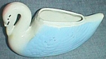 Click to view larger image of Vintage Figural Planter Small Swan American Bisque (Image1)