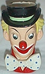 Click to view larger image of Vintage Napcoware Clown Head Vase C3321 Free Shipping (Image1)