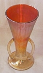 Click here to enlarge image and see more about item e-10: Imperial Handled Vase Carnival Glass