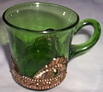 Lacy Medallion Punch Cup Emerald Green