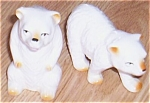 Click here to enlarge image and see more about item el-19: Vintage Ceramic Polar Bear Figurines