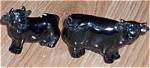 Click here to enlarge image and see more about item el-21: Yelloware Cow & Bull Figurine