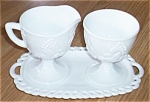 Anchor Hocking 3 pc Cream Sugar Set Grape Harvest