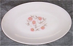 Fire King Fleurette Serving Platter