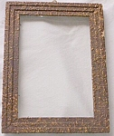 Click here to enlarge image and see more about item el-45: Small Gesso Splatter Picture Frame