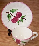 Click here to enlarge image and see more about item ely-102: Blue Ridge Cup and Saucer Cherry Bounce
