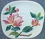 Click here to enlarge image and see more about item ely-21: 2 Red Wing Saucers Blossom Time Lexington Shape