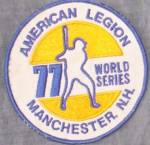 Click here to enlarge image and see more about item ely-41: 1977 American Legion World Series Baseball Patch