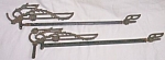 Pair Antique Sliding Curtain Rods Detailed Ironwork