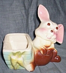 Click to view larger image of Figural Bunny Rabbit Planter Shawnee? McCoy? (Image1)