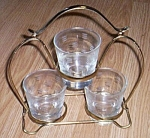 Libbey Glass Cut Glass Drink Set w/ Stand