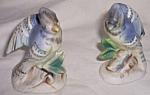 Vintage Enesco Blue Jay Salt Pepper Shakers