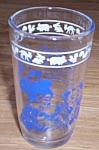 Click here to enlarge image and see more about item emb08-27: Vintage Child's Juice Glass Blue Bears