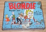 Click here to enlarge image and see more about item emb08-32: Vintage Blondie Paint Set Tin Box