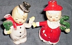 Snowman and Snowlady Salt and Pepper Shakers