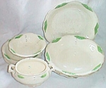 Click here to enlarge image and see more about item est-19: Homer Laughlin Virginia Rose 11 Pc Set Wings in Green
