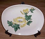 Click here to enlarge image and see more about item ev-13: Red Wing Platter Chrysanthemum