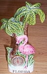 Click here to enlarge image and see more about item ev-16: Souvenir Florida Flamingo Thermometer