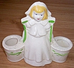 Click here to enlarge image and see more about item ev-23: Vintage Dutch Girl Double Bucket Planter