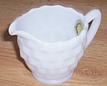 Hazel Atlas Opaque Ware Creamer Early American Style
