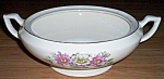 Click to view larger image of Antique Covered Serving Dish Wild Roses (Image1)