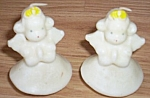 Click here to enlarge image and see more about item ev-46: 2 Gurley Angel Tavern Candles 1950's