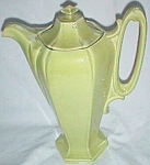 Click here to enlarge image and see more about item fin-4: 1940's Chartreuse Coffee Server