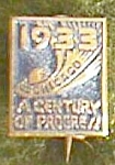 Click here to enlarge image and see more about item fin-7: Tiniest 1933 Chicago World's Fair Pin Free Shipping