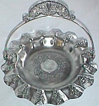 Pairpoint Silver Plated Basket Highly Decorated