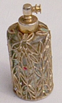 Click here to enlarge image and see more about item fl-63: Gold Filigree Cased Perfume Bottle