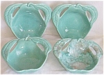 Click here to enlarge image and see more about item fla-5: 4 Enchanto Pottery Pear Shaped Sauce Bowls