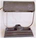 Click here to enlarge image and see more about item fla-6: Vintage Desk Lamp Pen Rest Bakelite Base