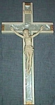Click here to enlarge image and see more about item gl-9: Vintage Crucifix Faux Mother-of-Pearl Backing Free Shipping