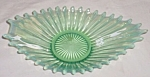 Click here to enlarge image and see more about item gr-17: Fostoria Green Opalescent Bon Bon Heirloom