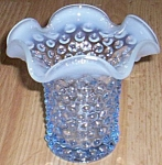 Duncan Miller Early Am Hobnail Sapphire Opalescent Vase
