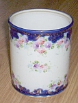 Click here to enlarge image and see more about item gr-26: Antique Flow Blue Canister/Humidor