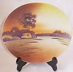 Click here to enlarge image and see more about item gr-30: Nippon Hand Painted Plate Earth Tones