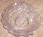Stunning Crystal Bowl Water Lily Pattern