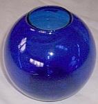 Heisey Cobalt Ivy Blue Ball Vase