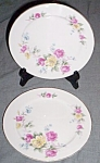 Click here to enlarge image and see more about item gr-48: Pair (2) Noritake Salad Plates Roses