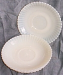 Click here to enlarge image and see more about item gr-55: 4 Macbeth- Evans Petalware Saucers Monax