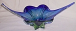 Click to view larger image of 1940's Venetian Art Glass Pulled Ends Center Bowl (Image1)